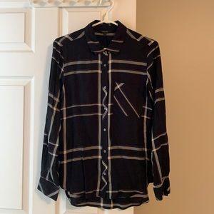 RW&CO. - Oversized Plaid Button Down Shirt - Sz M